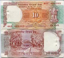 India 10 Rupees P 88F Aunc W/H