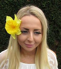Large Yellow Daffodil Flower Hair Clip Rockabilly 1950s Fascinator Spring 1819