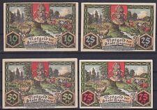 Notgeld Hagenow 10, 25, 50, 75 Pfennig Scheine 1921, Sammlung, Lot