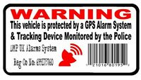 4 x GPS Tracking Barcode Security Alarm Warning Stickers Car Motorbike Van 75 mm