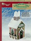 NEW GINGERBREAD HOUSE CHRISTMAS TISSUE BOX COVER PLASTIC CANVAS PATTERN LEAFLET
