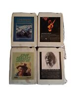 Four 8 Track Cassette Tapes:John Denver Greatest, Rocky MTN Xmass,  Want To Live