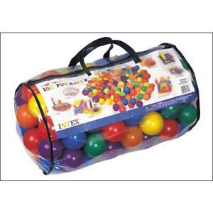 Intex 49600NP Sac de 100 balles fun 80 mm pour aires de jeux gonflables