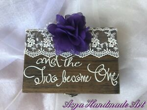 Wedding ring holder engagement ring box marry me box ceremony ring box decor