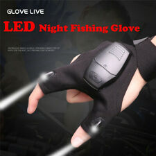 Night Fishing Fingerless Glove With LED Light Outdoor Rescue Flashlights Tool