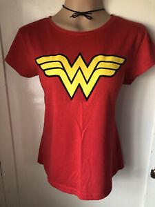 Ladies Wonder Woman Red T-Shirt Size 16