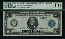 1914 $20 Federal Reserve Note - San Francisco -  FR-1010 - Graded PMG 40 EPQ