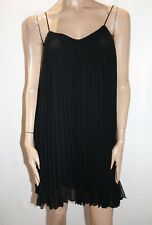 FOREVER NEW Brand Black Manon Pleated Swing Dress Size 8 BNWT #HG15