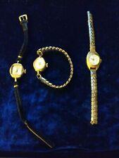 3 Vintage Femmes Wind Up Watches/montres-réplique, Roma DE LUXE, Josmar