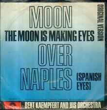 """7"""" Bert Kaempfert/Moon Over Naples (Schrift) D (Blauer Hintergrund)"""