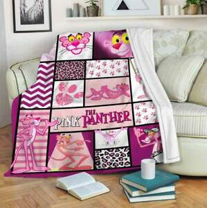 Pink Panther Blanket For Fan Funny Birthday Gift Throw Blanket Vintage