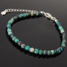 Bracelet « Rares pierres CHRYSOCOLLA du Pérou » + argent massif 925 !