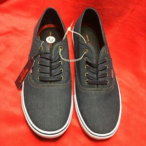 Levis Canvas Mens Shoes New 13 Comfort Lace Up Office Work