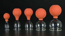 5er Schröpfset 20-60mm m. Ball,Schröpfglas,Schröpfgläser Original Lauschaer Glas
