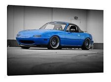 MK1 Mazda MX-5 - 30x20 Inch Canvas Framed Picture Wall Art