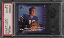 1998 SP Authentic Die-Cut Peyton Manning ROOKIE RC /500 #14 PSA 8 PMJS