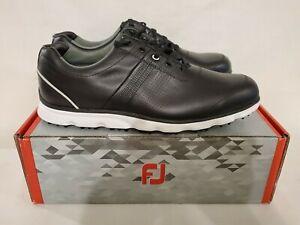 NEW FootJoy Dryjoy Casual 53697 Black Men's Golf Shoes 12M FJ NIB