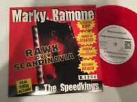 "Marky Ramone Speedkings Ramones Rawk over Scandinavia 7"" 45rpm Record Colored NM"