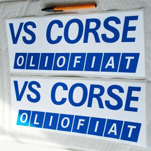 VS Corse Olio Fiat pair stickers decals rally Fiat 131 Abarth Lancia Stratos