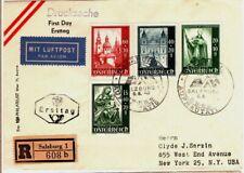 1948 Austria Cover Registered with 4 Semi-Postal Stamps - Salzburg - Scarce Item