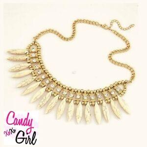 Gold Crystal Diamante Fashion Statement Spiral Necklace