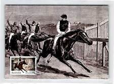 AUSTRALIA MK MELBOURNE CUP REITEN PFERD HORSE CARTE MAXIMUM CARD MC CM d9993