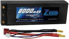 Zeee 2s Lipo Battery 7.4V 100C 8000mAh Hard Case Lipo Batteries With 4mm Bullet