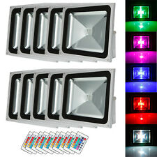 10X 50W RGB LED IP65 Flood Landscape Lamp Outdoor Spot Light & Remote Controller