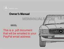 .pdf Mercedes Benz 560SL Owners Operation Manual 1986 1987 1988 1989 560 SL