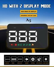 New A5 Auto GPS HUD Head-up Display Car Alarm Detector Real Time Speedometer