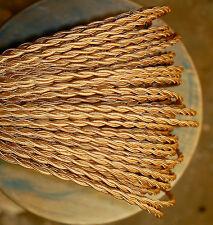Blond ( Licht Gold) Verdreht Tuch Bedeckt Draht, Vintage Stil Stoff Farbe Kordel