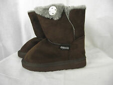 BNWT Little Girls Sz 13 Rivers Doghouse Brand Short Choc Brown Slipper Boots