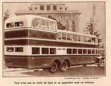 AUTOCAR GEANT ITALIEN IMAGE 1936 PRINT