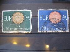 Italia (Europa cept) MINR. 1077-1078 con sello (h 551)