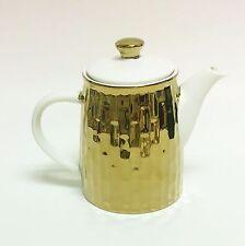 NEW GRACE'S TEAWARE METALLIC MIRROR GOLD+WHITE TEA+COFFEE POT,TEAPOT 4 CUPS