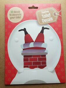 Festive Toilet Decals. 33 decals to decorate your toilet. Christmas decals.