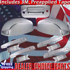 2007-2013 SILVERADO SIERRA Chrome Door Handle Covers+Mirror+Tailgate WCamKeyHole