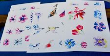 6 Sheets Watercolor 25 Designs Self-Cutting for Your Art Journals Mix Media Art