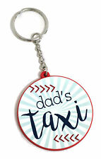 DAD'S TAXI CAB KEYRING FOR DAD NOVELTY KEY FOB