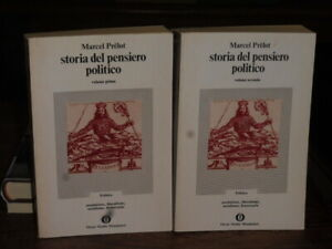 STORIA DEL PENSIERO POLITICO - MARCEL PRELOT - 2 VOLUMI - OSCAR MONDADORI 1^ ED.