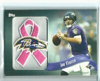 2013 Topps NFL Patch PINK Ribbon Joe Flacco Excellent Condition # PR-JF