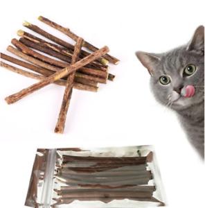 Cat Nip Sticks 'Natural Matatabi Silvervine' Dental Chew Toy Teeth Clean 5-20pcs