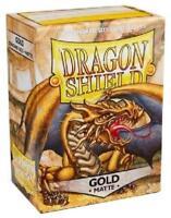 Dragon Shield Standard Size Card matte Sleeves Gold Magic Pokemon 100ct box