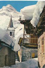 BF25295 l hiver dans les alpes dans un village de haite  france front/back image