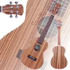"New 26"" Zebra Wood 18 Frets Aoustic Tenor Ukulele 4 Strings Hawaiian Guitar"