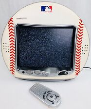 """Hannspree 9.6"""" LCD Color TV MLB NY YANKEES LEATHER BASEBALL w/ Original Remote"""