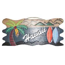"""ALOHA HAWAII BEACH """" HAWAII """" ~ HOLZ BOARD SCHILD WAND BRETT SURF KITE WAKE"""