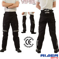 VIPER APEX CE APPROVED ARMOUR MOTORBIKE THERMAL TROUSER WATERPROOF RIDERS PANT