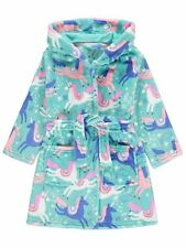 Girls Unicorn Dressing Gown Fleece Hooded Dressing Gown Robe Age's 2- 14Years