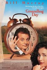 GROUNDHOG DAY (1993) ORIGINAL MOVIE POSTER  -  ROLLED  -  DOUBLE-SIDED